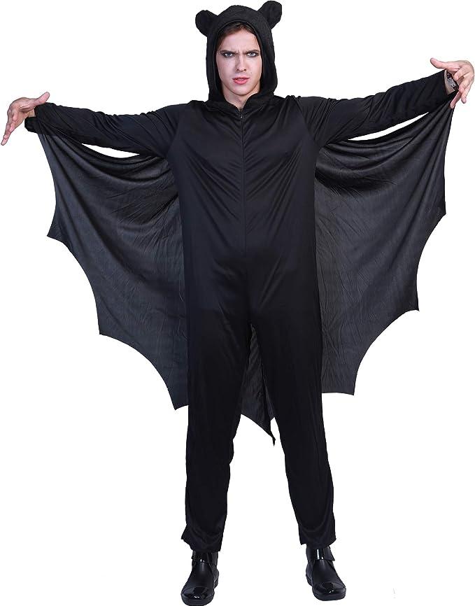 EraSpooky Murciélago Disfraz de Halloween Hombres Mujeres Niños ...