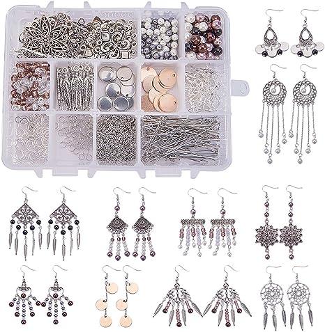 20pcs Charm Silver Earring Connector Chandelier Earring Making Findings DIY