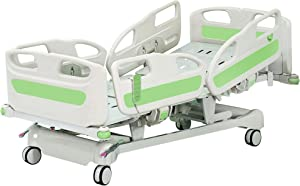 Hopefull Premium 5 Function Full Electric Hospital ICU Bed (5 Functions, LINAK Motor and Control System, Central Locking System)