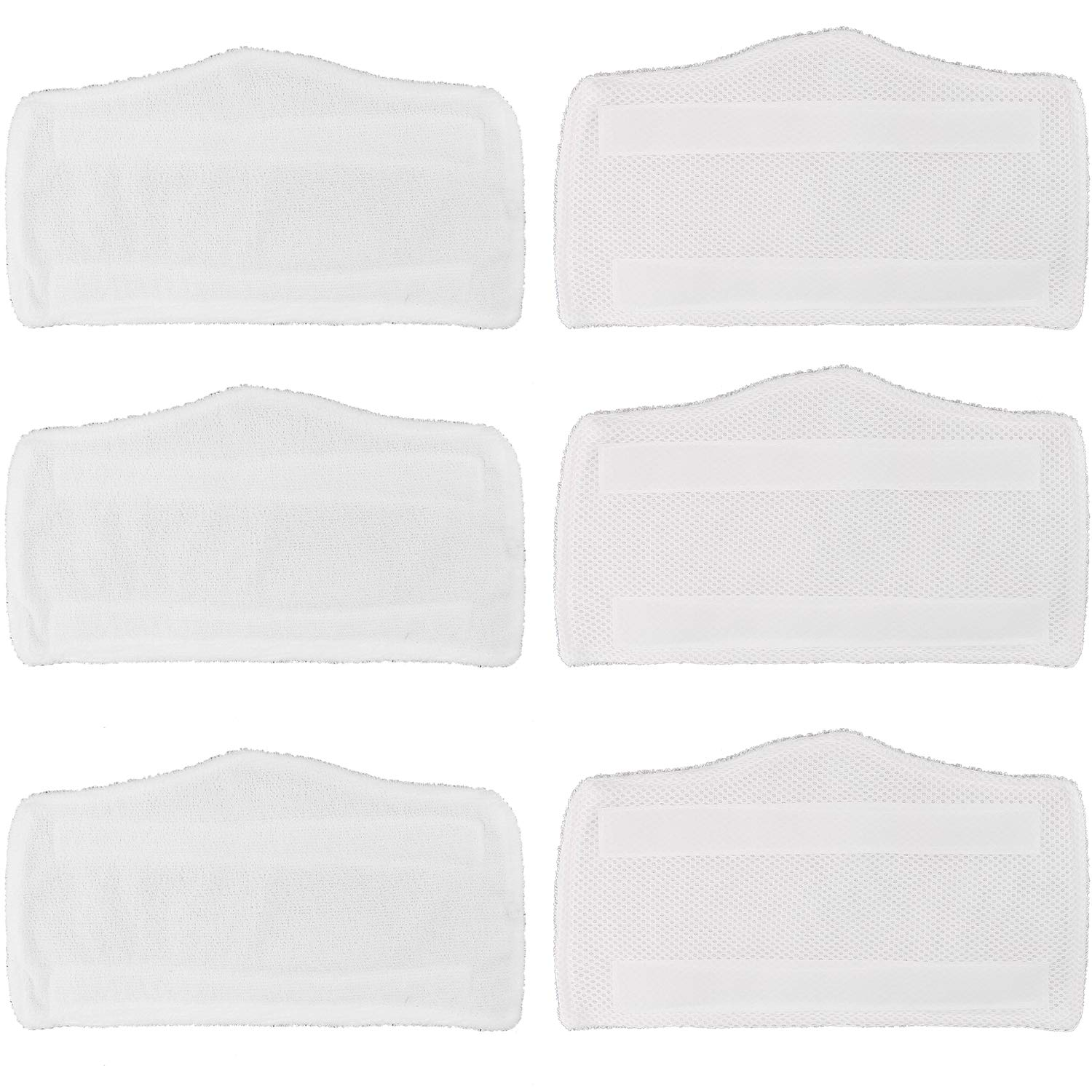 Tidy Monster 6 Pack Microfiber Replacement Washable Cleaning Pads for Shark Steam & Spray Mop S3101 S3202 S3250 S3251 SK410 SK435CO SK460 SK140 SK141