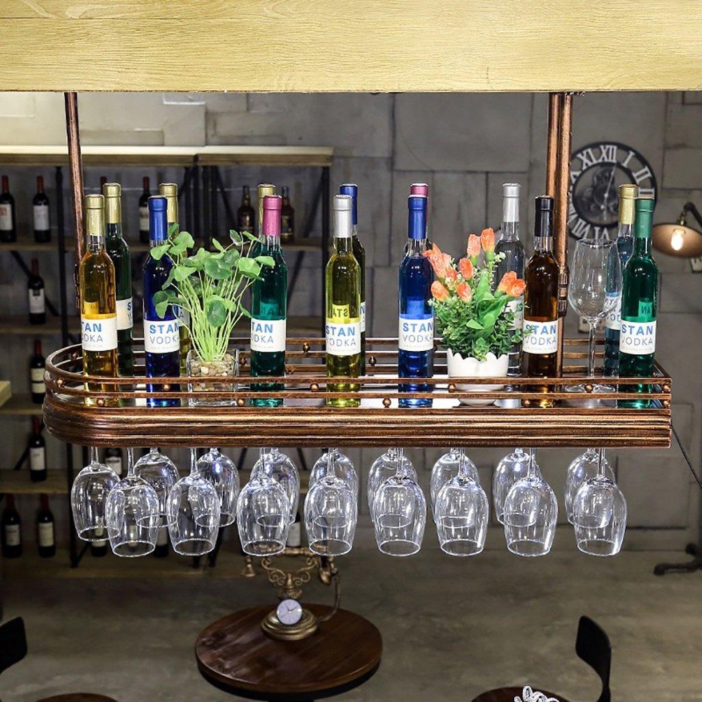 BTJJ Barre à vin rouge - bar - vin - grille - verre - verre - cadre - suspendu - retro - gobelets - rouge - vin - verre - cadre