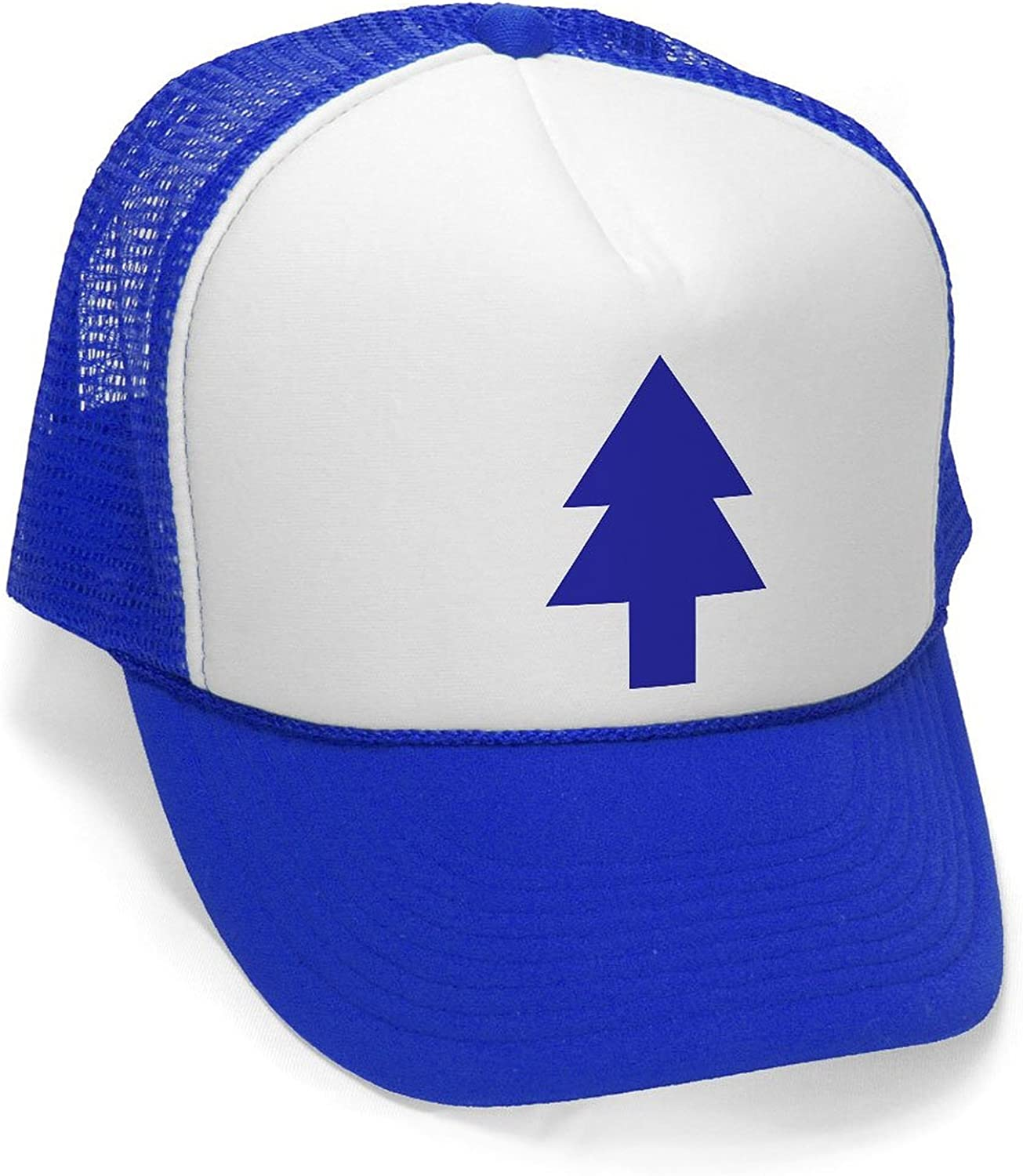 Dipper's Pines - Foam and Mesh Trucker Hat Royal Blue: Clothing