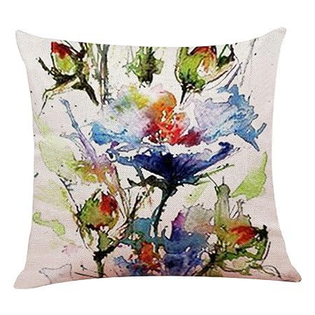 Multicolor Kissenbezug Sulifor Baumwolle und Leinen Platz Dekoration Wurf Kissenbezug Sofa Taille Kissenbezug