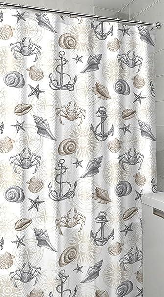 Amazoncom Nautical Ocean Sea Life Theme Canvas Fabric Shower
