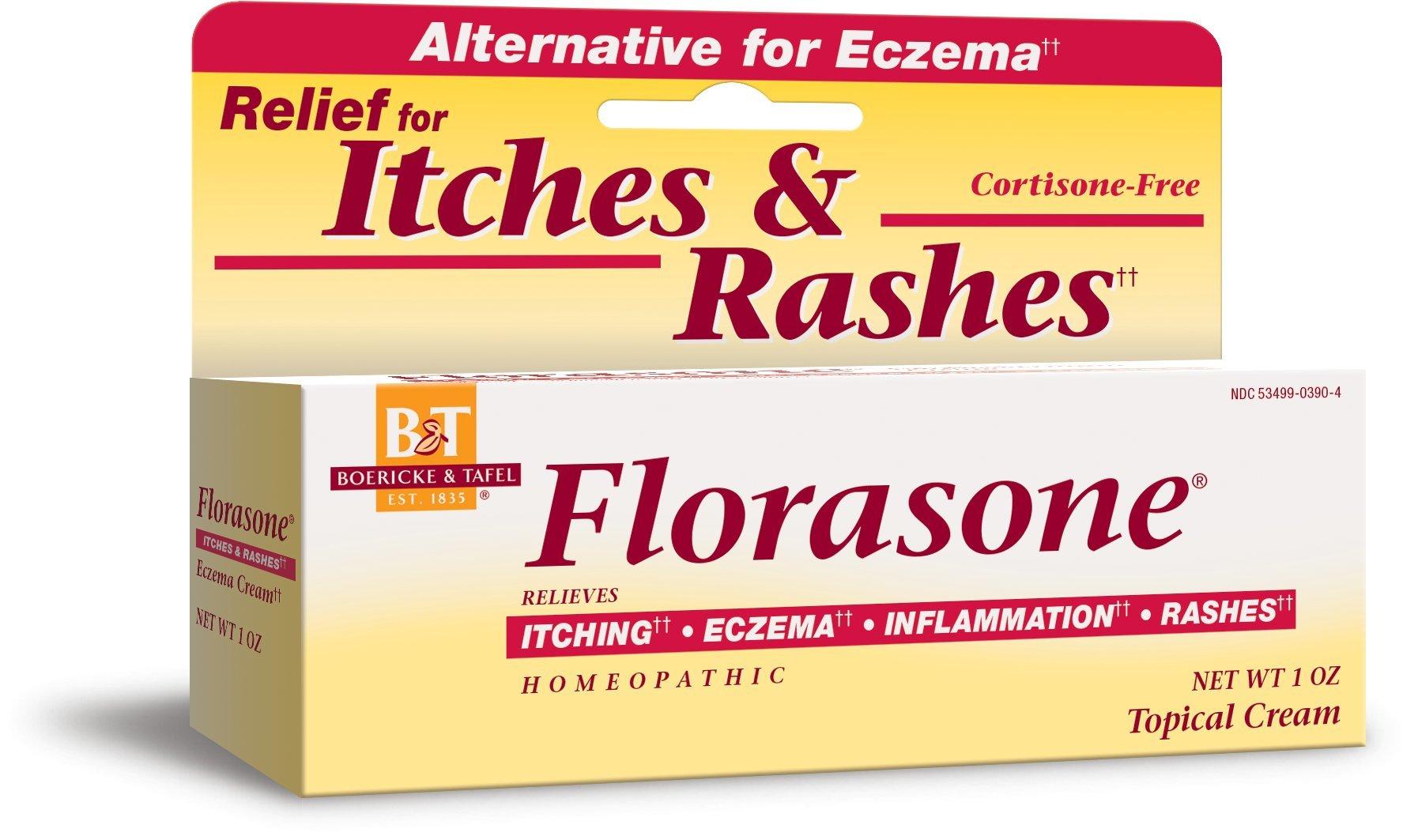 Boericke & Tafel Florasone Itch & Rash Relief Cream, 1 Ounce