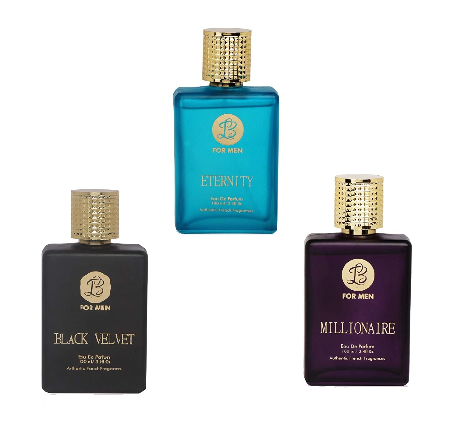 d056577a1679 Buy Lyla Blanc ETERNITY BLACK VELVET MILLIONAIRE Perfume Spray for Men-  (Set of 3) (100ml each) Online at Low Prices in India - Amazon.in