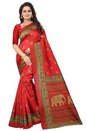 AKSHAR STORE Gajraj Sarees For Women's Mysore Art Silk Saree With Blouse Piece