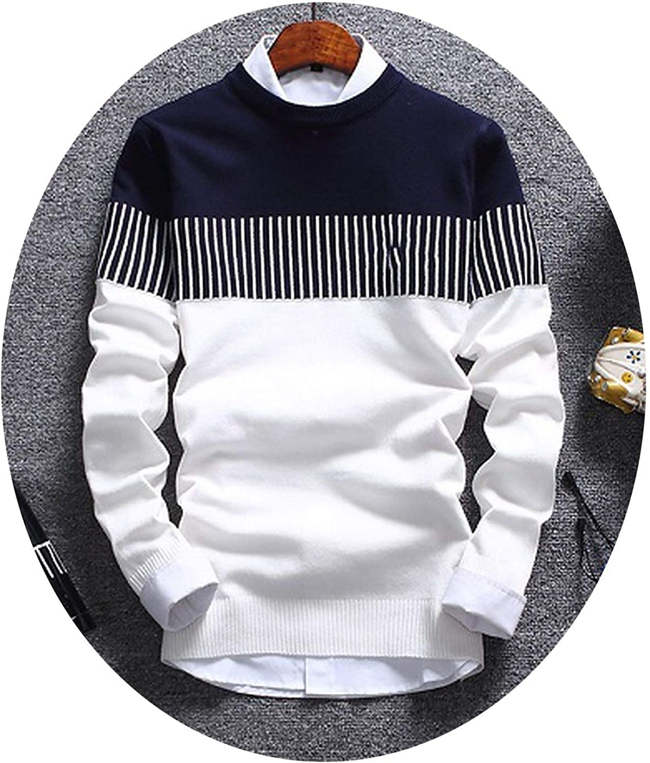 Super frist Mens Perfect Slim Fit Lightweight Soft Fitted Crew Neck Pullover Long Sleeve Sweater
