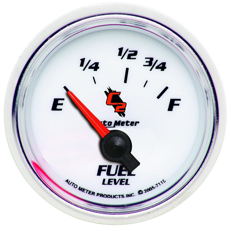 Auto Meter 7115 C2 Short Sweep Electric Fuel Pressure Gauge