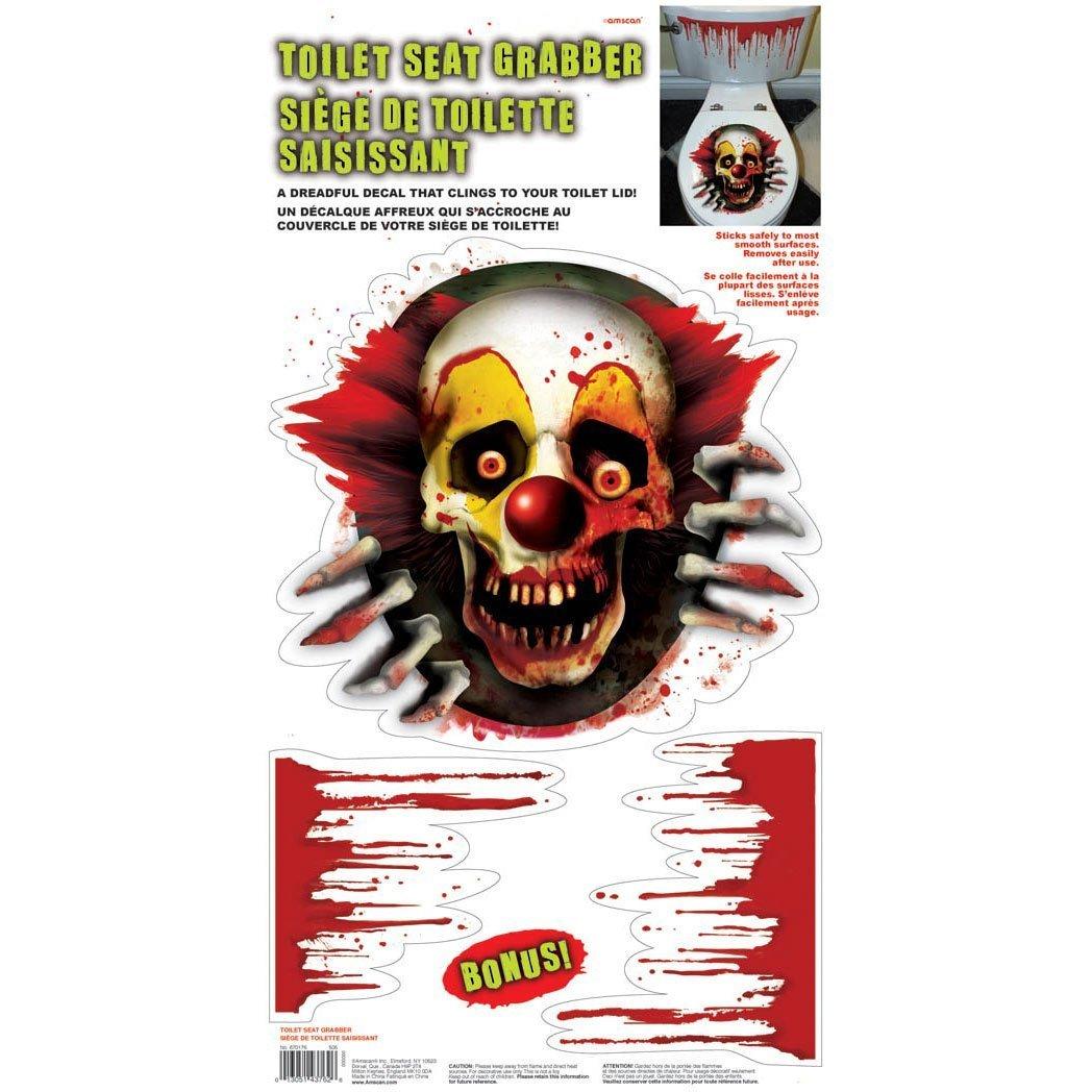 Amscan 61 x 30cm Creepy Carnival Vinyl Toilet Grabber high-quality