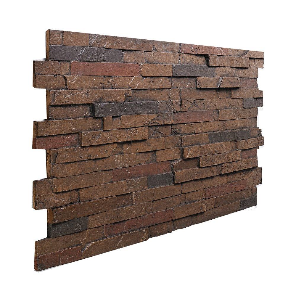 BuyFauxStone FREE SAMPLE Stacked Slate Wall Panel GRAPHITE