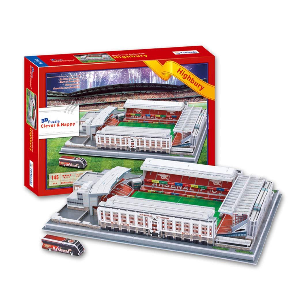 EP-model Sports Stadium Modello 3D, Arsenal Highbury Stadium Modello Souvenir Puzzle Fai da Te, 17 x 13  x 3.2