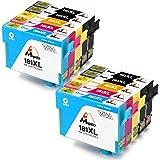 Mipelo Compatible Epson 18XL (T1811 T1812 T1813 T1814) Gran Capacidad Cartuchos de tinta, Utilizado en Epson Expression Home XP30 XP102 XP202 XP205 XP212 XP215 XP-225 XP302 XP305 XP312 XP315 XP322 XP325 XP402 XP405 XP405WH XP415 XP412 XP422 XP425 Impresora (4 Negro, 2 Cian, 2 Magenta, 2 Amarillo)