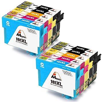Mipelo Compatible Epson 18XL 18 Cartuchos de tinta, Gran Capacidad ...
