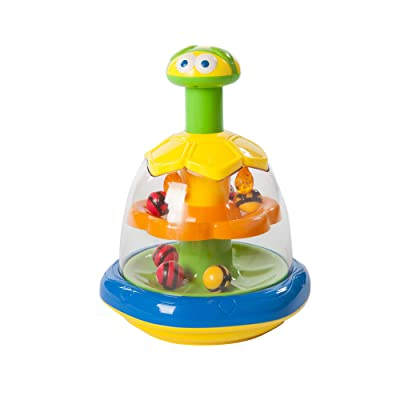 Fat Brain Toys Busy Bees Push 'n Spin Baby Toys & Gifts for Ages 1 to 3: Toys & Games