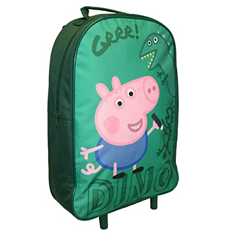 Amazon.com | George Pig Dino Premium Wheeled Bag Green 11 Litres | Carry-Ons