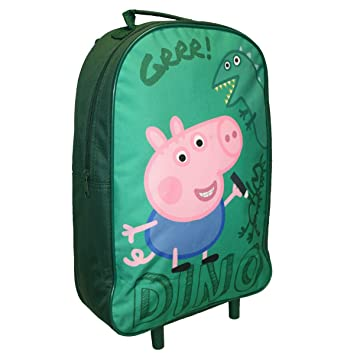 George Pig Dino Premium Wheeled Bag Green 11 Litres
