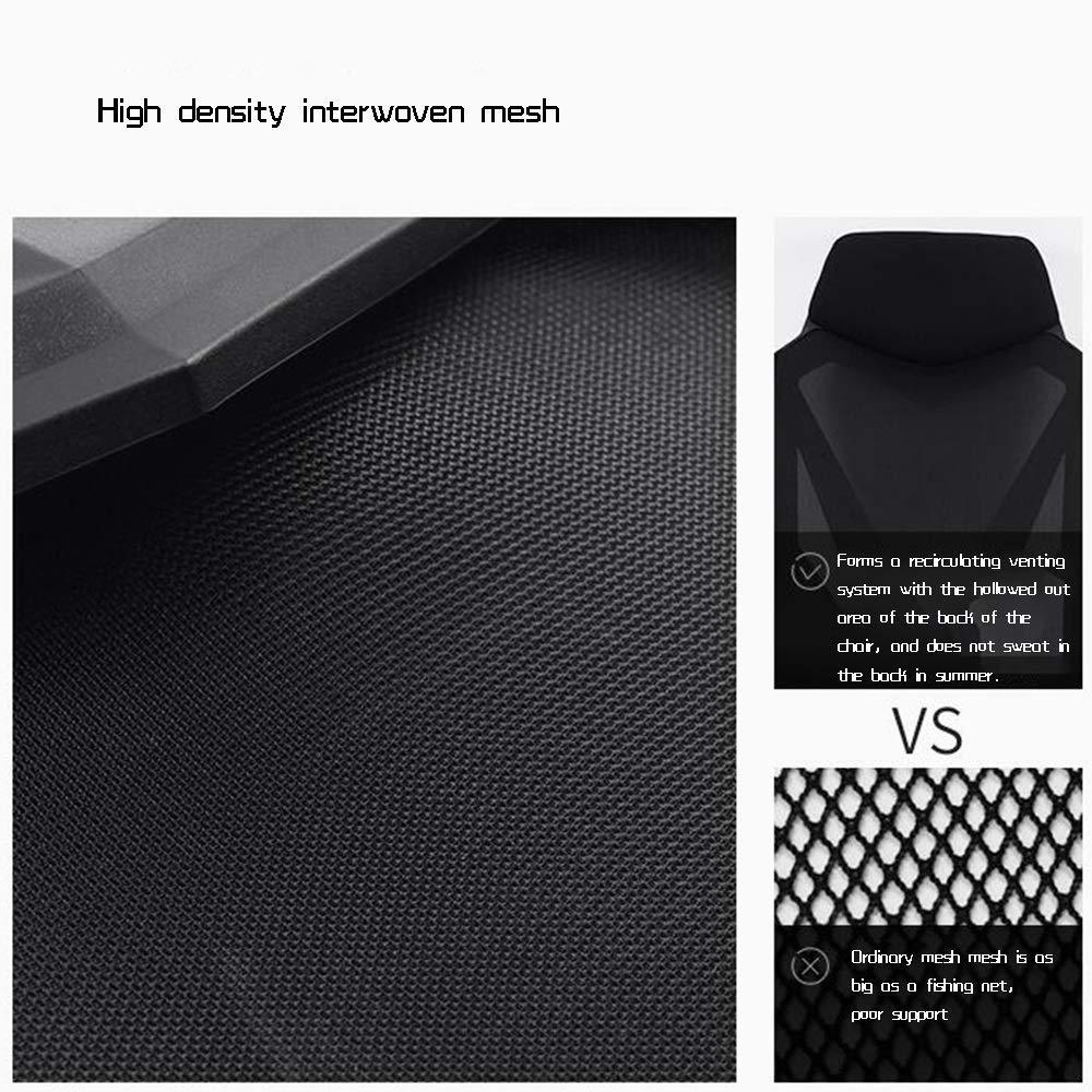 Dalovy bekväm datorstol, Liggande Esports spelstol säte ergonomisk svängbar stol kontorsstol bärande kapacitet: 150 kg Svart