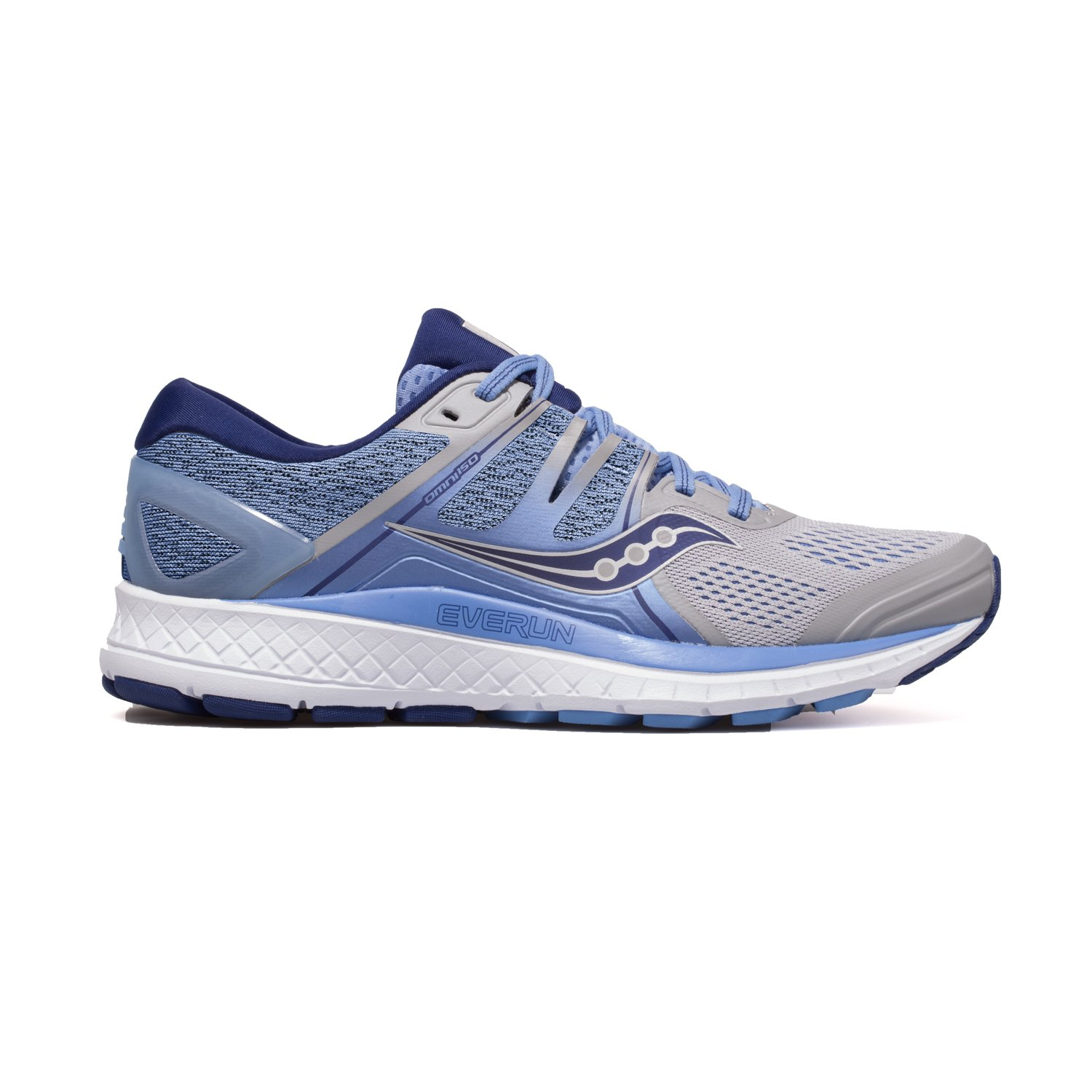 Saucony Women's Omni ISO Running Shoes B07D95KWKP 6.0 B(M) US|Silver/Blue/Navy