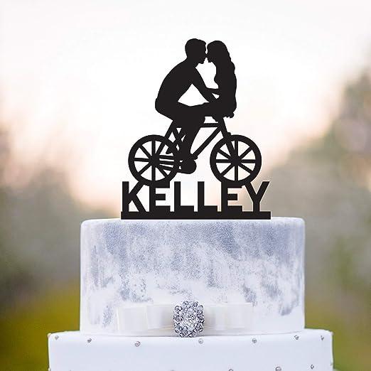 Adorno para tarta de bicicleta para parejas de bicicleta Tandem ...