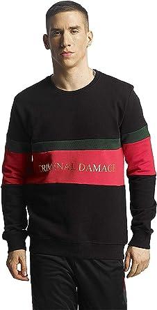 Criminal Damage Vasco Cotton Sweat Black//Red