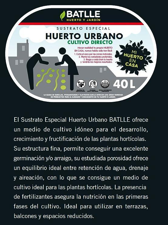 Sustratos - Sustrato Huerto Urbano 40l. - Batlle: Amazon.es: Jardín