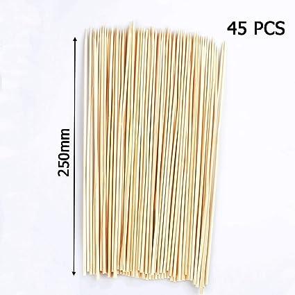 Amazon.com: PAPWOO - Pinchos de madera para barbacoa ...