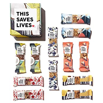 6. This Bar Saves Lives Granola Breakfast Bar – 12 bar Variety Pack