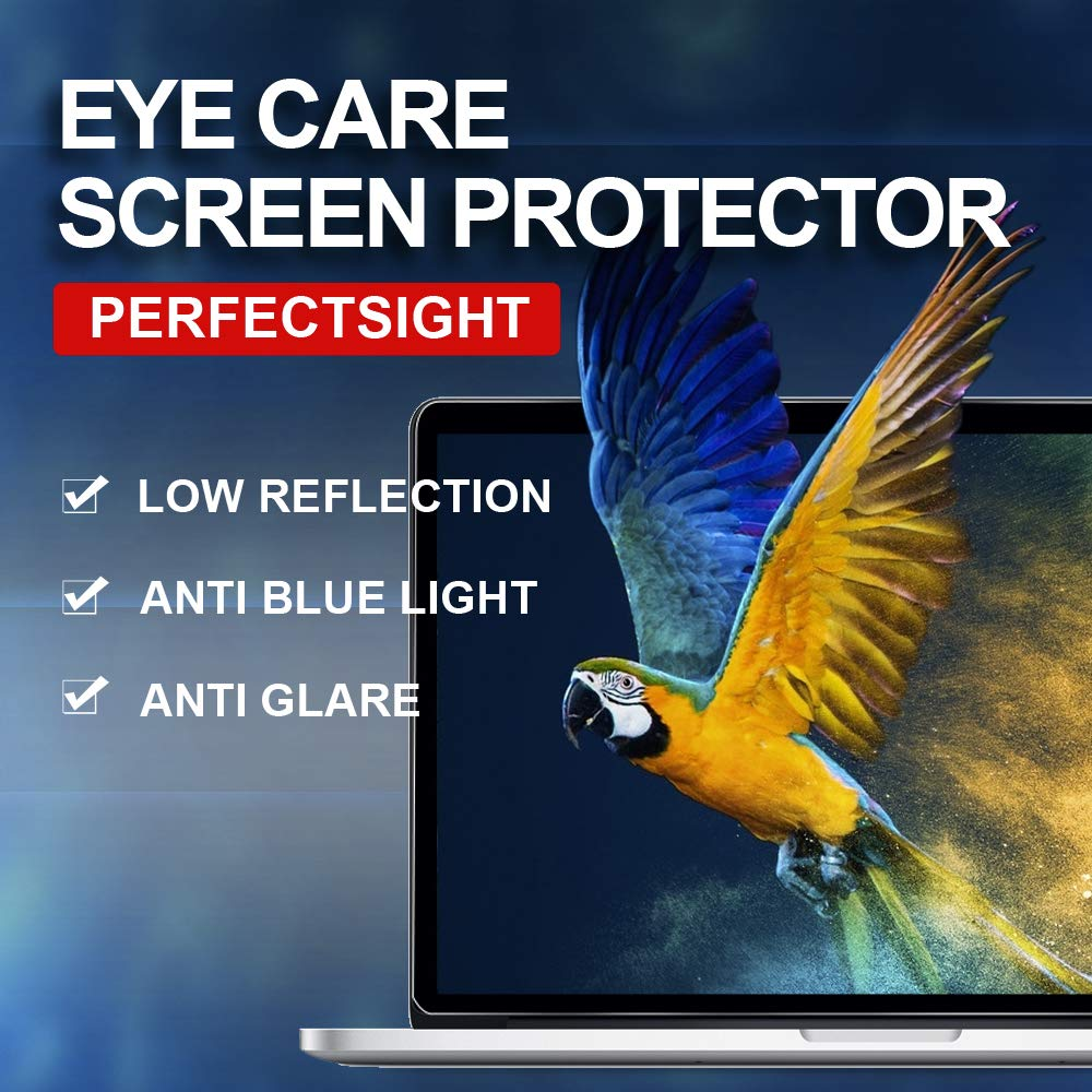 PERFECTSIGHT Tempered Glass Screen Protector for New MacBook Pro 15 inch Touch Bar 2016/2017/2018, 55% Anti Glare Blue Light Filter by PERFECTSIGHT (Image #1)