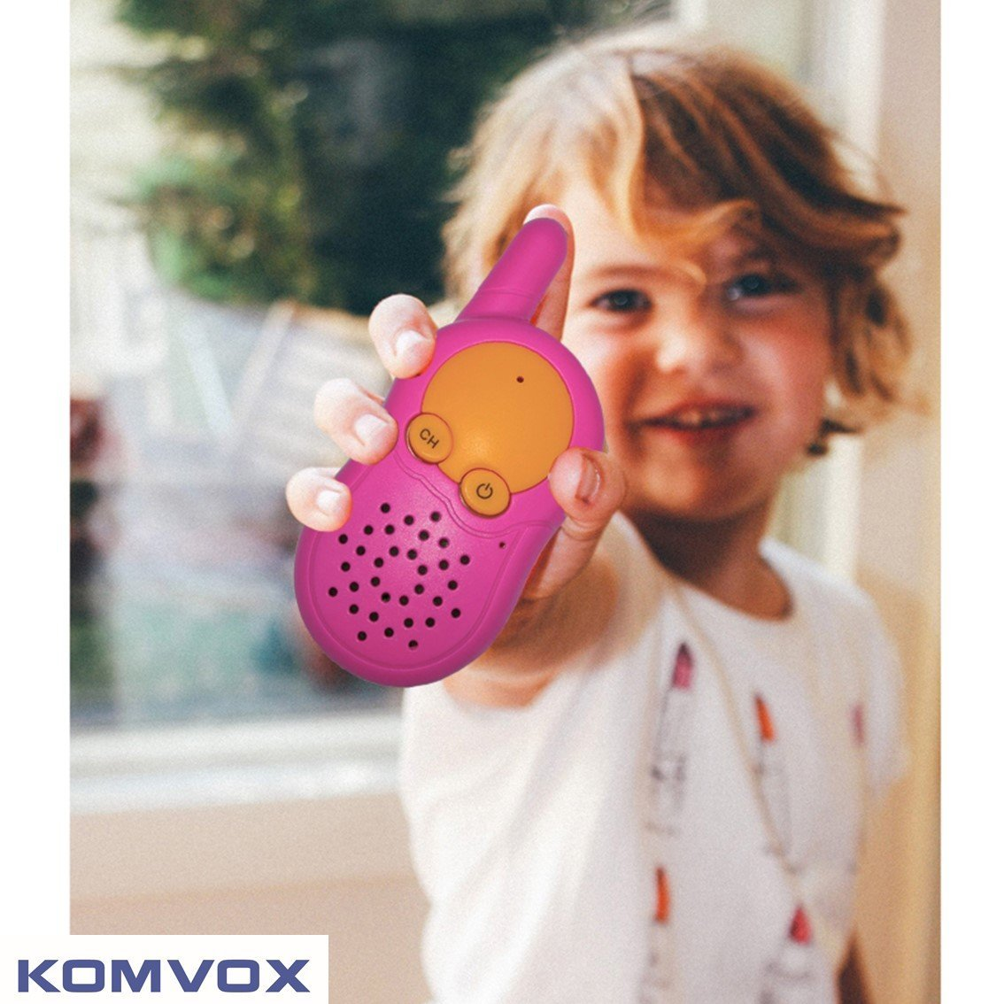KOMVOX Walkie Talkies for Kids, Toys for Girls Age 3 4 5 6, Kids Birthday Gifts for 3 4 5 Year Old Girls, Top Toys for Girls Pink Gifts by KOMVOX (Image #8)