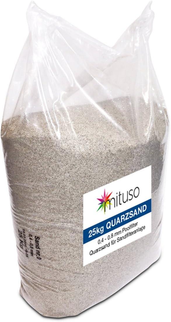 Mituso - Arena de Cuarzo para Filtro de Arena (1 x 25 kg)