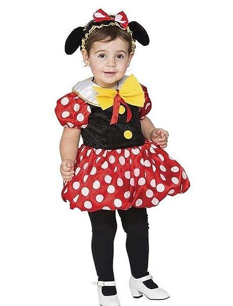 d5ea5d8dae0f Costume Carnevale TOPINA Abito Vestito Bambina 3 - 4 Anni con Orecchie  Topolina