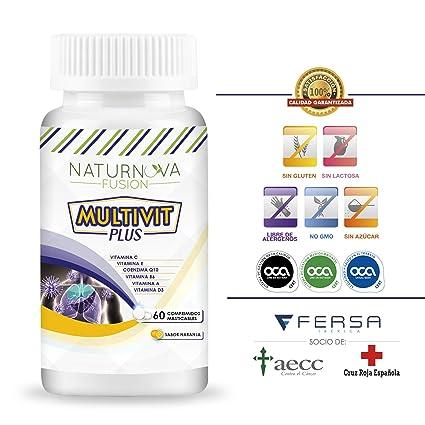 Vitaminas C, E, B6, A y D3 para aportar energía y fortalecer a nuestro organismo – Multivitaminas con Coenzima Q10 para el correcto funcionamiento del ...