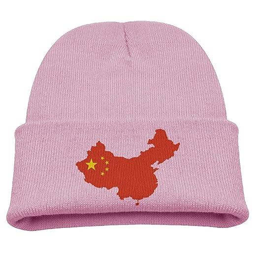 19d0c0bfc73 Amazon.com  WLF Kids Girls Boys China Map Flag Daily Beanie Hat ...
