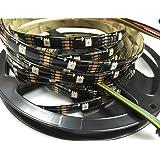 apa102C apa102Programme numérique adressier bares RVB bande de lumière 30LED/pixels/M LED SMD 5050DC5V, 5M schwarze PCB IP65, 2G10 5.00 volts
