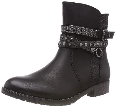 28876ca37 Amazon.com   Marco Tozzi Girl's Kendall Senior Biker Zip Ankle Boots Junior  2.5/35 Black Combi   Boots