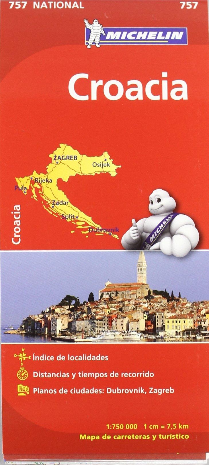 Mapa National Croacia (Mapas National Michelin): Amazon.es: Vv.Aa ...