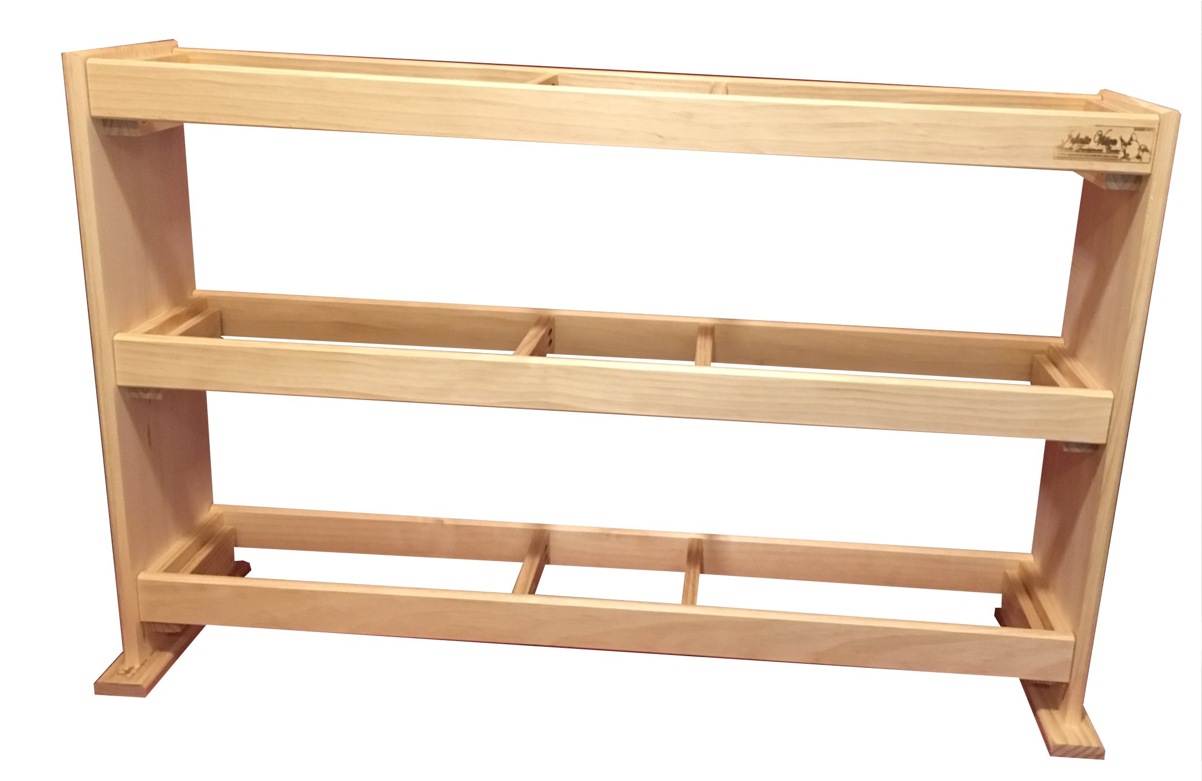 Optimal Branding Solutions Bowling Ball Rack - Wood - (15 Ball Capacity)
