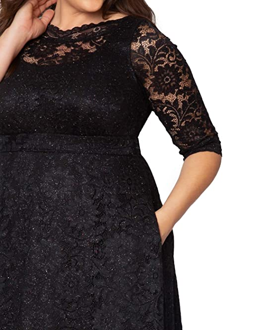 051c9226b0 Kiyonna Women s Plus Size Special Edition Leona Lace Gown at Amazon Women s  Clothing store