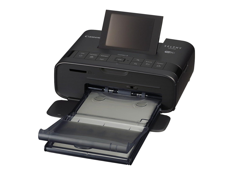 Canon Selphy CP1300 - Impresora fotográfica inalámbrica (Apple AirPrint, Mopria, pantalla abatible de 8.1 cm, tintas de 3 colores, 300 x 300 ppp) ...