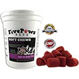 Fish Oil for Dogs ~SHED Free ~Pure Krill Oil Soft Chews ~ Richer in Omega 3 Fatty Acids than Fish Oil~ Helps Reduce Shedding & Promotes Healthy Skin & Coat ~ Gives Itching Relief ~ 60 Chews Per Tub