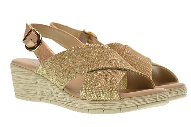 The Flexx Sandales Compensées pour Femmes 14401_15 Ambiguous ORO Taille 39 Or 21v3gPvdrI