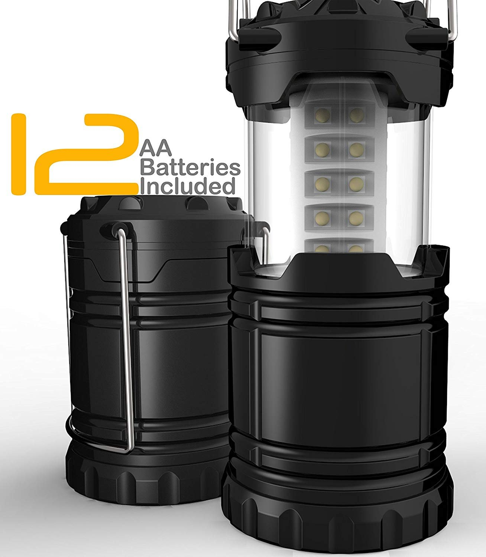 ROOKLY LED Linterna Linterna LED Que Acampa Kit De Supervivencia para Huracanes Interrupciones De Tormenta De Emergencia Linterna Portátil Al Aire Libre Negro Plegable (Baterías No Incluidas) d56f87