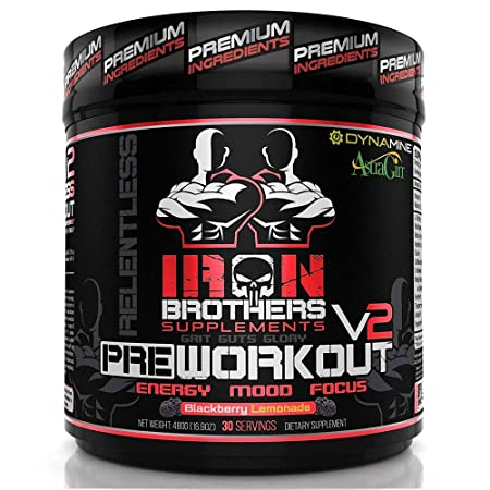 Pre Workout Supplement Powder for Men Women – BlackBerry Lemonade-Best Creatine Free Nutrition – Muscle Pump Optimum Energy Fat Burner-30 Servings-Most Potent Natural High Stimulant-Strong-Dynamine