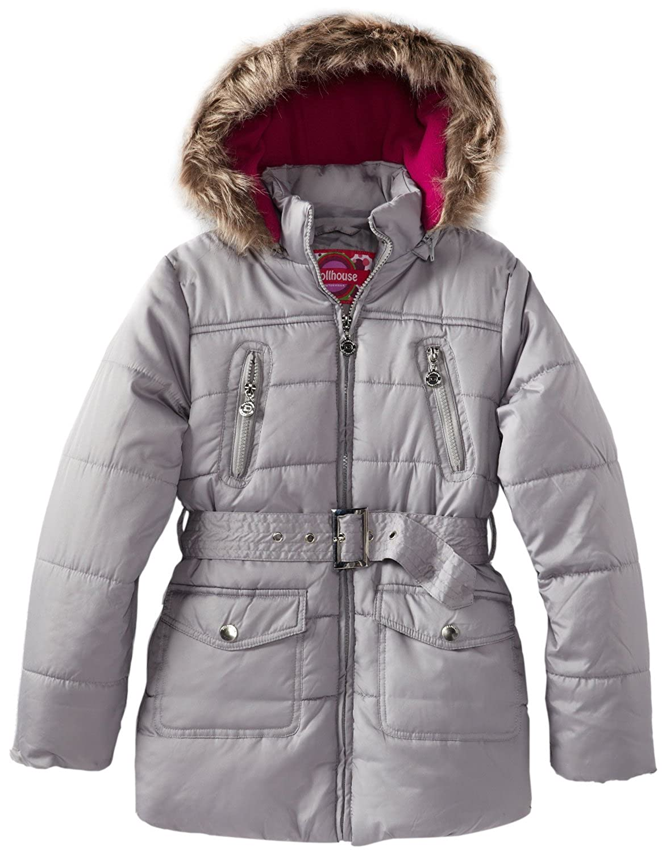 Amazon.com: Dollhouse Niñas Forro Polar con capucha larga ...