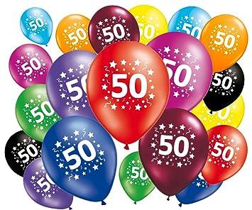 Lote de 20 globos 50 cumpleaños