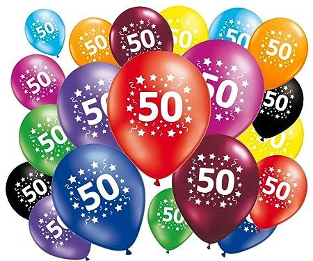 FABSUD 20 Globos cumpleaños 50 años: Amazon.es: Hogar