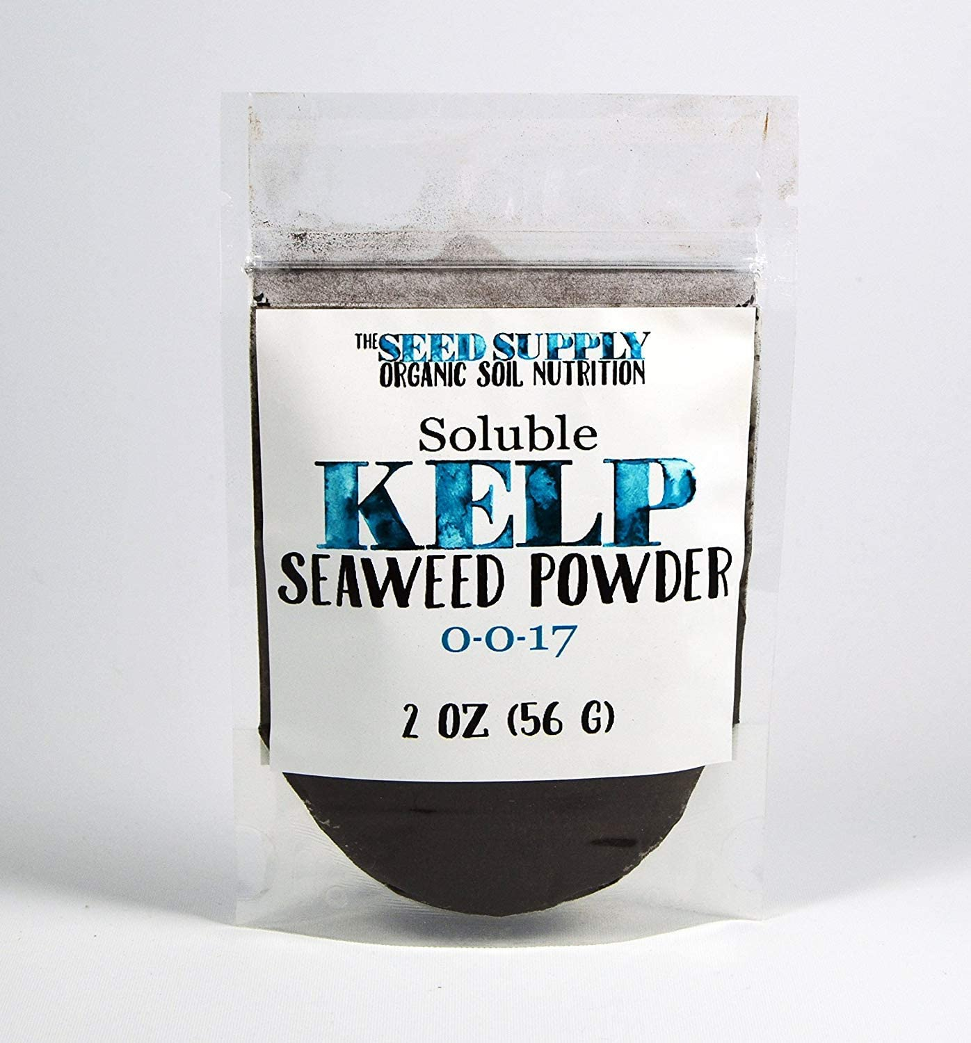 Soluble Kelp Seaweed Powder - 2 Ounces for Plant Root Development and Growth Stimulant 0-0-17 Organic Fertilizer