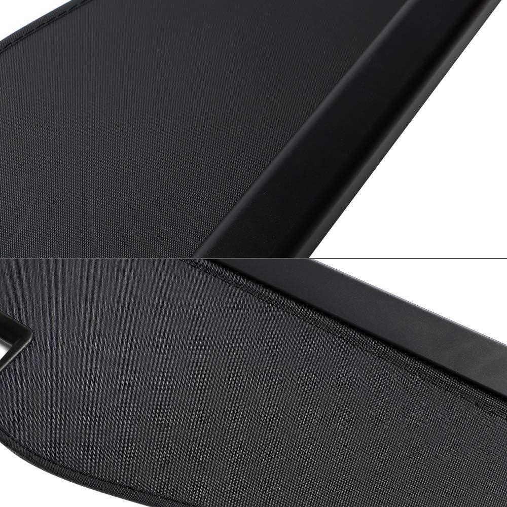 Cargo Cover Compatible With 2014 2017 Nissan X Trail Rogue 2015 2016 Unpainted Black Pu Rear Tonneau Security Cover Retractable By Ikon Motorsports Tonneau Covers Automotive