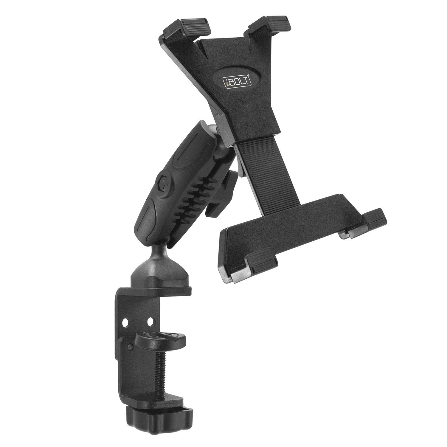 iBOLT TabDock Bizmount Clamp- Heavy Duty Dual-Ball C-Clamp mount for all 7'' - 10'' tablets (iPad, Samsung Galaxy Tab, etc.) For Desks, Tables, Wheelchairs, Carts: Great For Homes, Schools, Offices by iBOLT (Image #3)